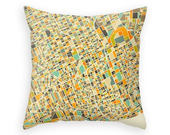 DETROIT MAP, Throw pillow for your modern home decor (ivory version)
