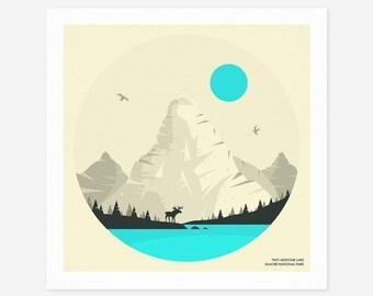 GLACIER NATIONAL PARK (Giclée Fine Art Print/Photo Print/Poster Print) by Jazzberry Blue
