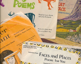 poetry and stories for children 7 inch records in sleeves