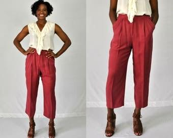 1990s Pink Silk Pants