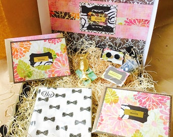 Midnight Garden {Party} Box {black earrings + card set}