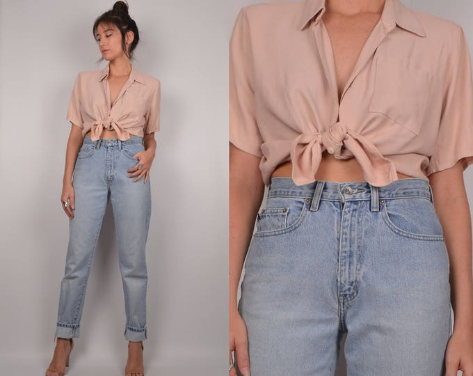 Neutral Vintage Button Up Shirt minimalist