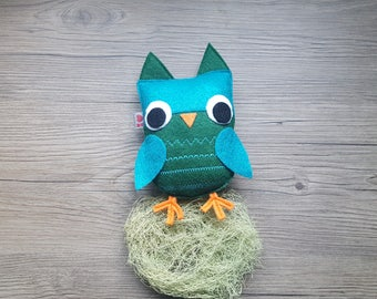 Modern Nursery, Owl Baby Decor, Cute Kids Bedroom, Forest Friend, Woodland Gift, Summer Gift, Felt Animal, Baby Shower Party, Eco Friendly