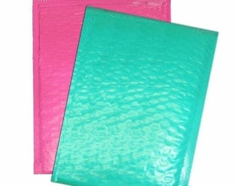 On Sale 30 Teal and Pink 10.5x15.5 15 each large Bubble Mailers, Size-5 Large Padded Self Adhesive Wholesale Padded Mailer Envelopes