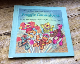 A Fraggle Rock Book starring Jim Henson's muppets! Fraggle Rock Countdown by Michaela Mutean. Pictures by Diane Dawson Hearn 1985. 80s!
