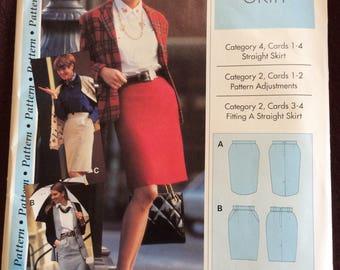 Ladies straight skirt  pattern  women's sizes 4,6,8,10, 12,14,16,18,20,& 22