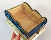 SALE / Vintage Victorian Velvet and Celluloid Photo Storage Box with Silk Lining