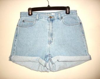 Vintage 1990s High Waist Denim Shorts, Size Extra Large