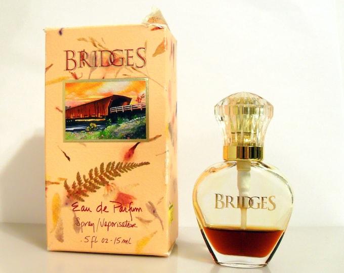 Vintage 1990s  Bridges by Tsumura 0.5 oz Eau de Parfum Spray and Box PERFUME