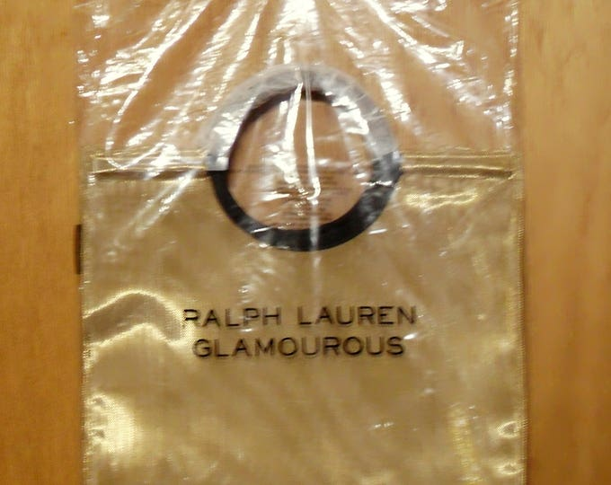 Vintage 2000 Glamourous by Ralph Lauren Perfume Promotional Mesh Fabric GWP Shopping Bag Designer Fragrance Collectible
