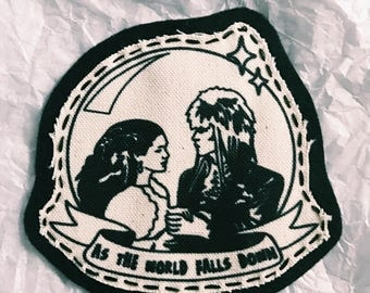 Labyrinth, David Bowie -Iron on patch.