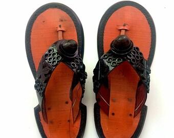 "Ahenema ""Nsirewa"" (Traditional Ghanaian Slippers)"