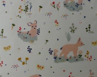 1/2 Yard Organic Cotton Fabric - Birch Fabrics Little - Little Deer Poplin