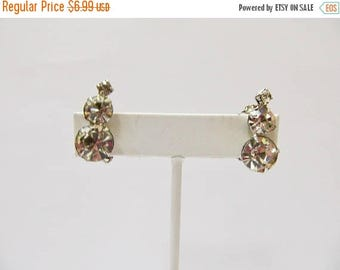 On Sale Vintage Prong Set Rhinestone Earrings Item K # 1371