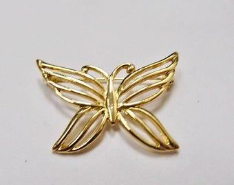 ON SALE Vintage Openwork Butterfly Pin Item K # 49