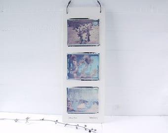 Joshua Tree,  Ocotillo, Cholla.  Southwest Art. Polaroid Transfers Printed on Hand Made Fired Ceramic Clay.  Mojave Desert.