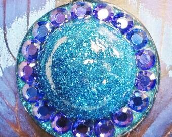 Blue Bubble Medallion