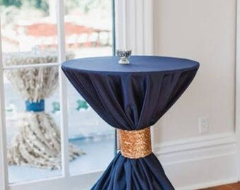 """Navy blue tablecloths 90""""x132"""" Reserved for Kadie"""