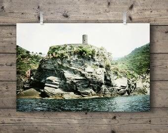 Vernazza's Belforte Castle / Cinque Terre, Liguria, Italy / Italian Riviera Travel Photography Print / Mediterranean Sea Landscape Wall Art