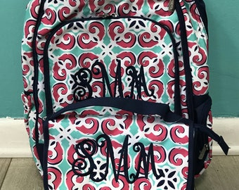 Monogrammed backpack and lunch box set
