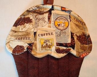 Coffee Lover Cupcake Shape Potholder