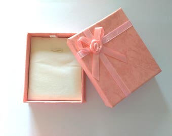 5pc Pink color Necklace paper gift boxes