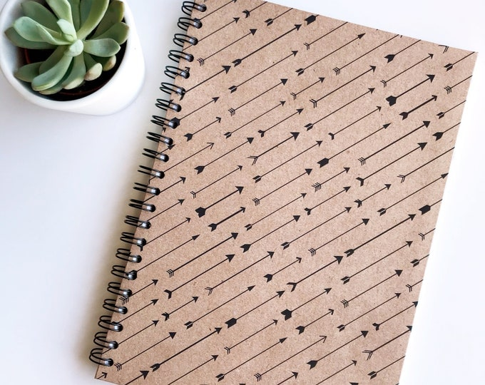 Featured listing image: Kraft Arrows A4 Notebook