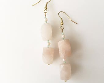 SALE! Rose Quartz Earrings