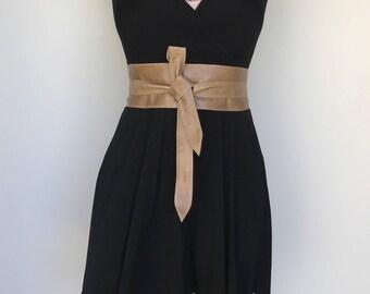 Wrap Leather Obi Belt, Wide Distressed Tie Belt, Wraparounds Sash Belts