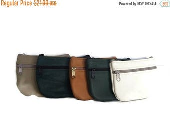 ON SALE Leather Pouch Bag, Small Coin Bag, Cosmetic Bags, Trendy Mini Handbags