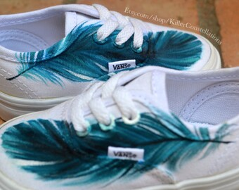 Custom Painted Baby Feather Shoes