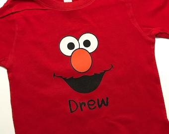 Personalized Elmo Birthday Shirt or Bodysuit - Elmo shirt - Kid elmo shirt