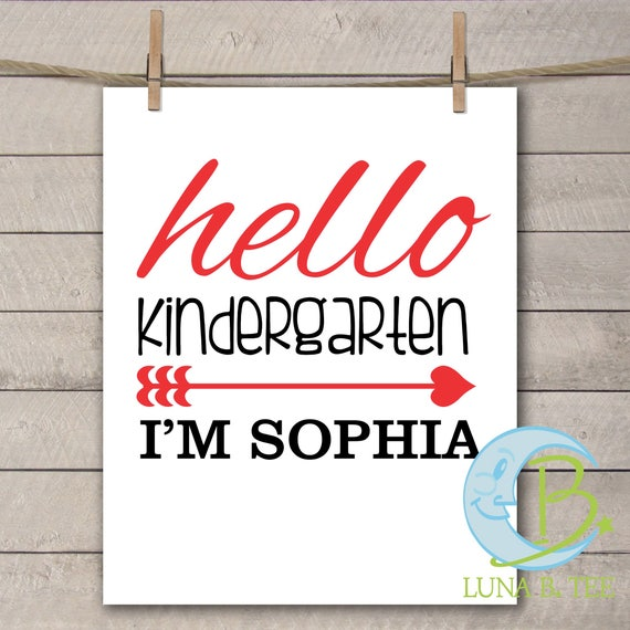 Personalized Digital Download, Back To School, Hello Kindergarten Shirt, DIY School Shirt