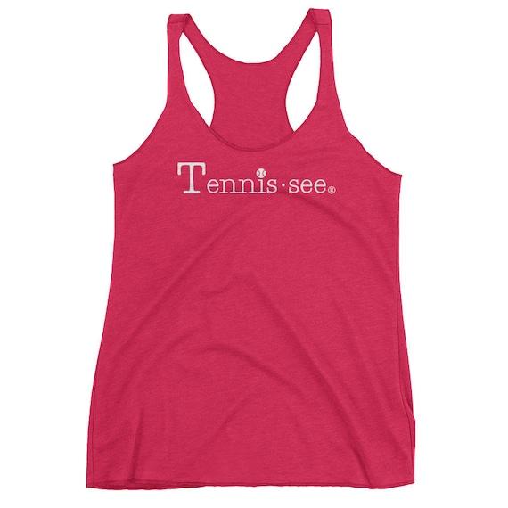 Tennis.see® Tank Top Tennessee Tennis Shirt Hot Pink Women's Racerback Tank