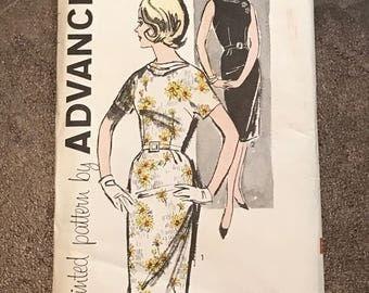 Vintage Slim Fitted Dress Pattern , Vintage Pattern , Adavance Pattern ,