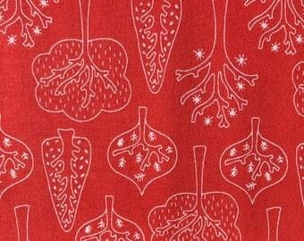 Trollskog Red by Tidöblomma Fabrics (Germany) - Cotton Lycra Jersey