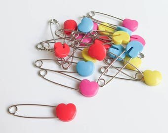 Heart Safety Pins
