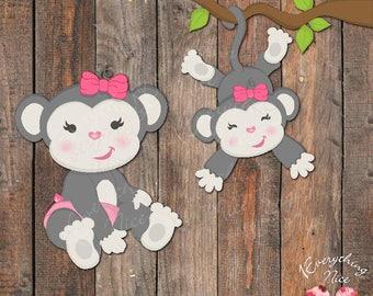 Baby Girl Monkey Clip Art