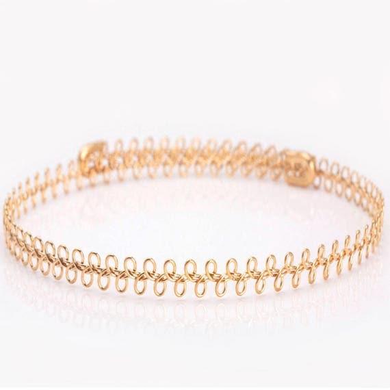 Gold Choker Necklace, Silver Choker Necklace, Adjustable Choker Necklace, Dainty Choker Necklace, Gold Layer Necklace, Boho Choker Necklace