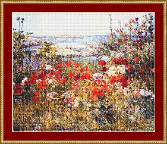 Celia Thaxter's Garden Cross Stitch Pattern /Digital PDF Files /Instant downloadable