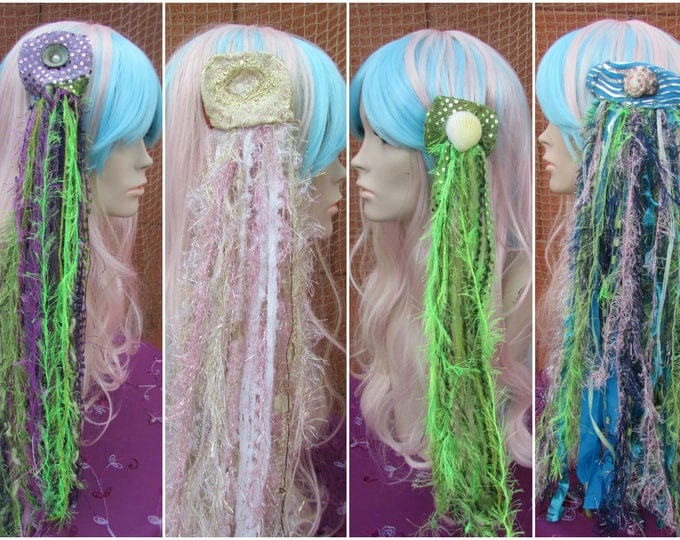 Mermaid Hair Clips, Mermaid Hair, Mermaid Costume, Shell Clips, Mermaid Accessories, Hair Clips, Cosplay, Halloween, Festival Wear