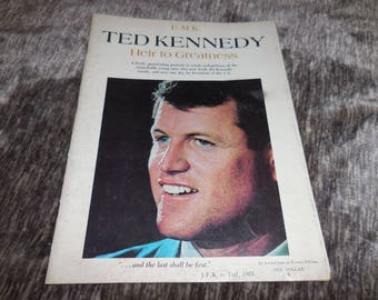 Vintage 1961 Magazine of Ted Kennedy Heir to Greatness