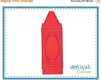 40% OFF 664 Crayon Single applique design digital for embroidery machine by Applique Corner