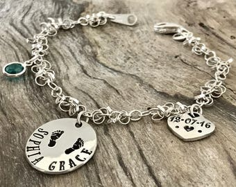 Grandma bracelet | Custom Bracelet Personalize | bracelet birthstone | Bracelet birthstone |  Grandmother Bracelet | Personalized Bracelet
