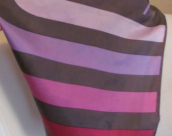 "Vera Scarf Pink Stripe Acetate Soft Silky Scarf 24"" Square - Affordable Scarves!!!"