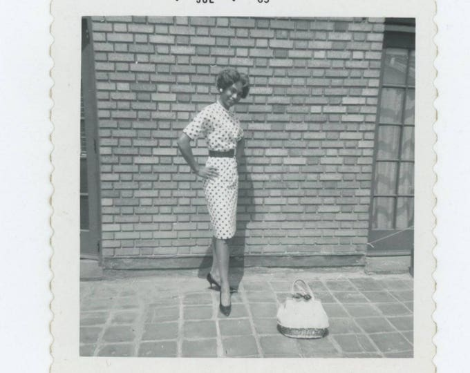 Vintage Snapshot Photo: Purse & Polka Dots, 1963 (711621)