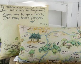 Winnie the Pooh Nursery Pillow Set | Hundred Acre Wood Classic Pillow | Winnie the Pooh Quote Pillow | Classic Winnie the Pooh