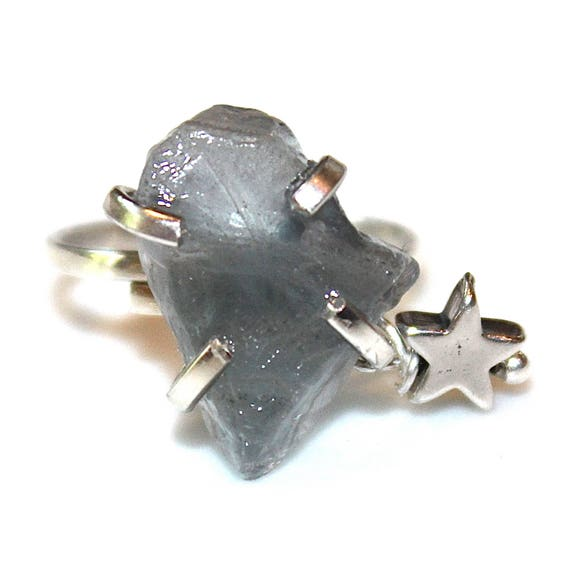 Blue Fluorite Star Ring