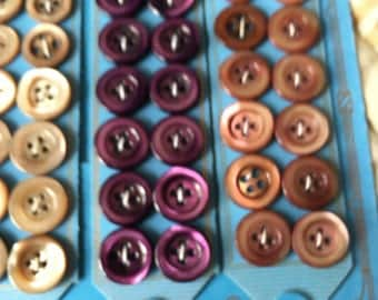 Beautiful pack of mixed colour mother of pearl buttons