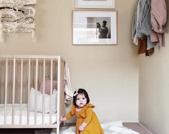 Linen Fitted Crib Sheet in Ivory, Linen Crib Sheet, Cream Crib Sheet